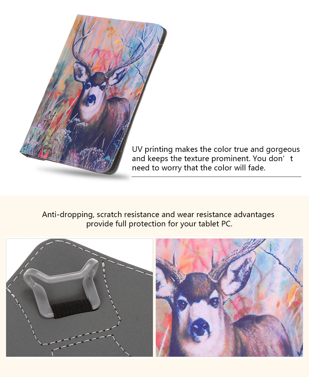 SZKINSTON Magical Deer Style Protective Case for 9.4 / 10.5 inch Tablet PC Full Body Folding Stand Design