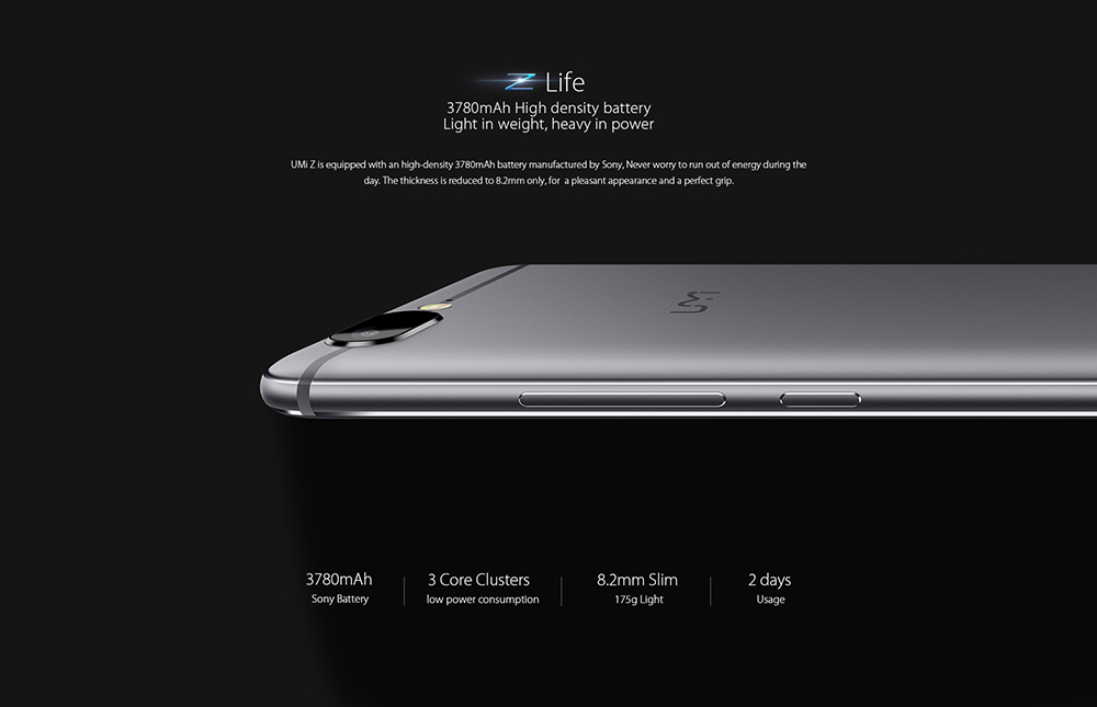 UMi Z 4G Phablet 5.5 inch Android 6.0 Helio X27 2.6GHz Deca Core 4GB RAM 32GB ROM 13.0MP Rear and Front Cameras