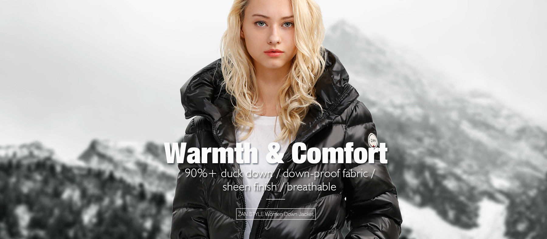 ZANSTYLE Long Down Jacket for Women