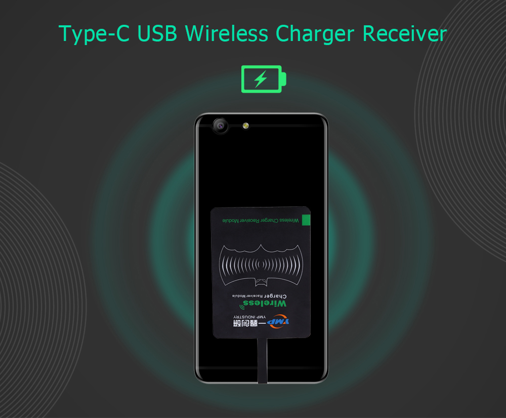 YMP Qi Standard Type-C USB Wireless Charger Receiver Patch Acceptor