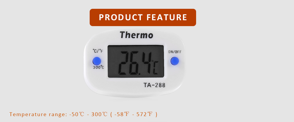 TA - 288 2PCS LCD Digital Thermometer Rotatable for Kitchen Food