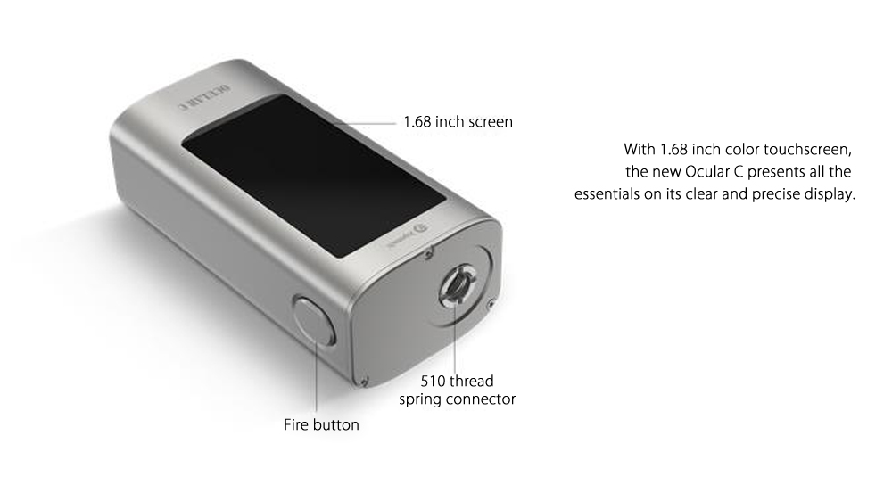 Original Joyetech OCULAR Touch Screen 80W TC Box Mod With Built-in 5000mAh Lithium-ion Battery for E Cigarette