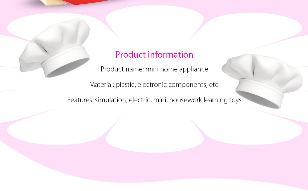 Electric Simulation Appliance Set Pretend Play Household Toy
