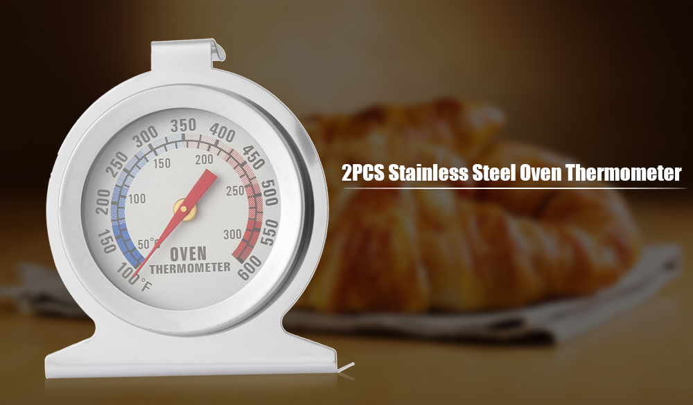 2PCS Stainless Steel Oven Thermometer Kitchen Tool
