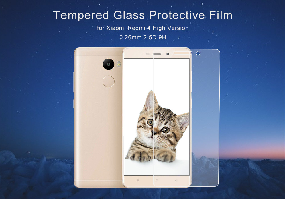 ASLING Tempered Glass Screen Film for Xiaomi Redmi 4 High Version Ultra-thin 0.26mm 2.5D 9H Explosion-proof Protector