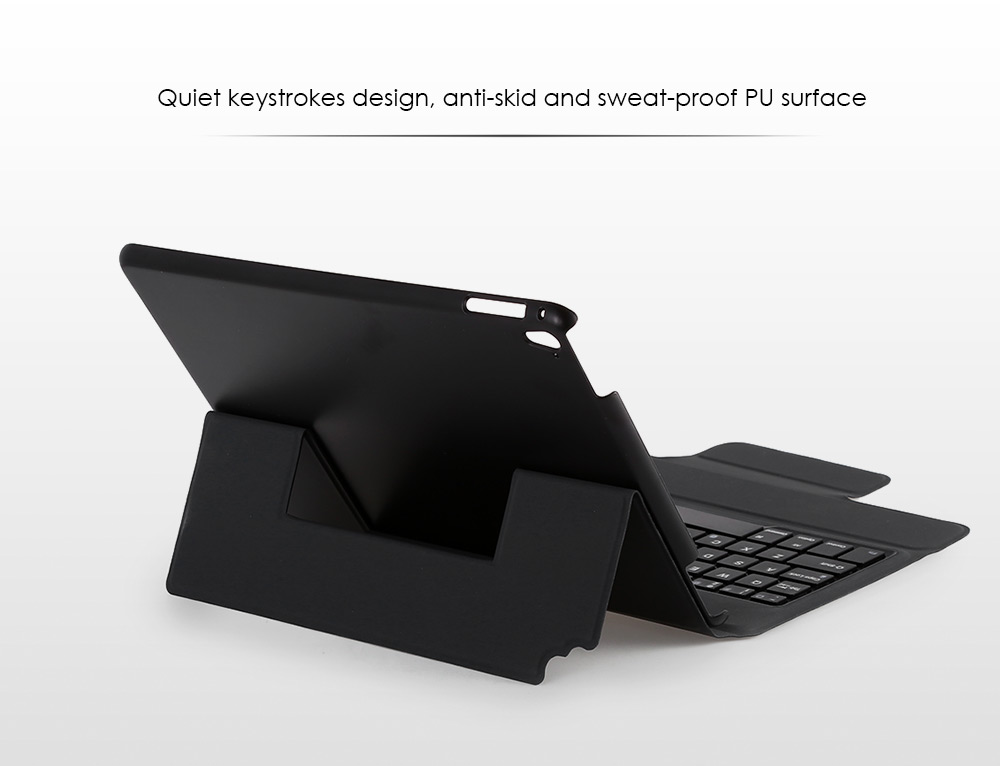 Bluetooth Keyboard PU Leather Cover Case for iPad Pro 9.7 inch Foldable Stand