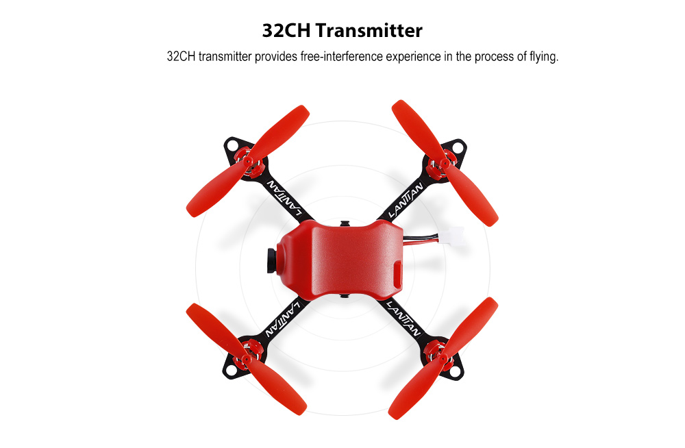 LANTIAN LT105Pro Mini Indoor Racing Drone with F3 Brushed Flight Controller / 32CH 25mW Transmitter / 5.8G 600TVL CMOS Camera