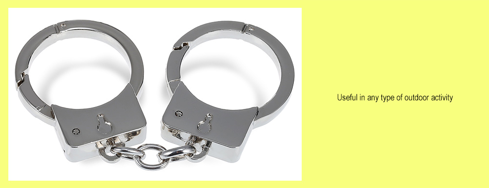 Handcuffs Style Stainless Steel Keyring for Bag Decor