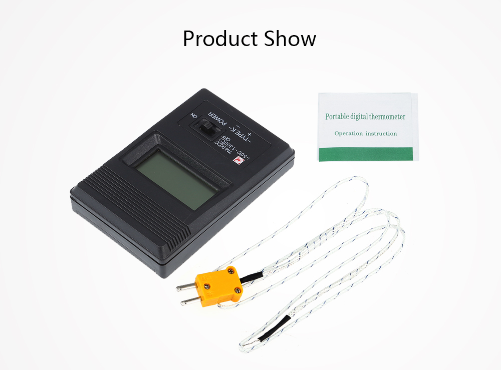 TM - 902C LCD K Type Digital Thermometer with Probe