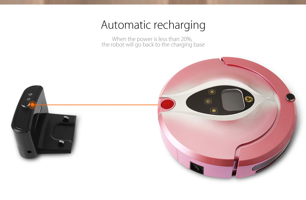 Aosder FR - Eye Smart Robotic Vacuum Cleaner Cordless Sweeping Cleaning Machine Self-recharging Mopping Function