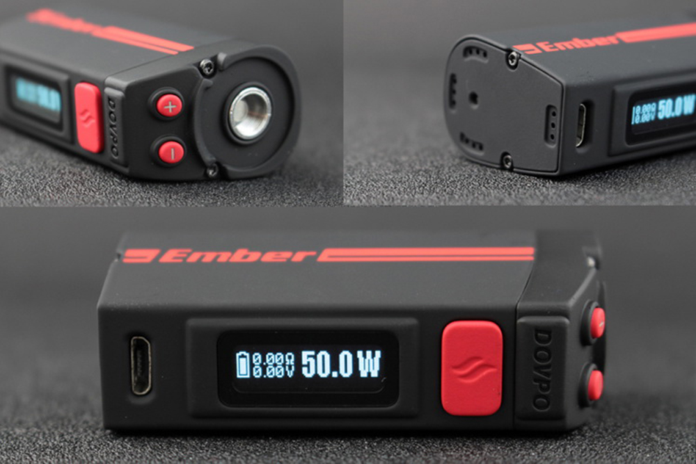 Original Dovpo Ember 50W TC Box Mod with Built-in 1500mAh Lithium-ion Battery / 200 - 600F / 100 - 300C for E Cigarette