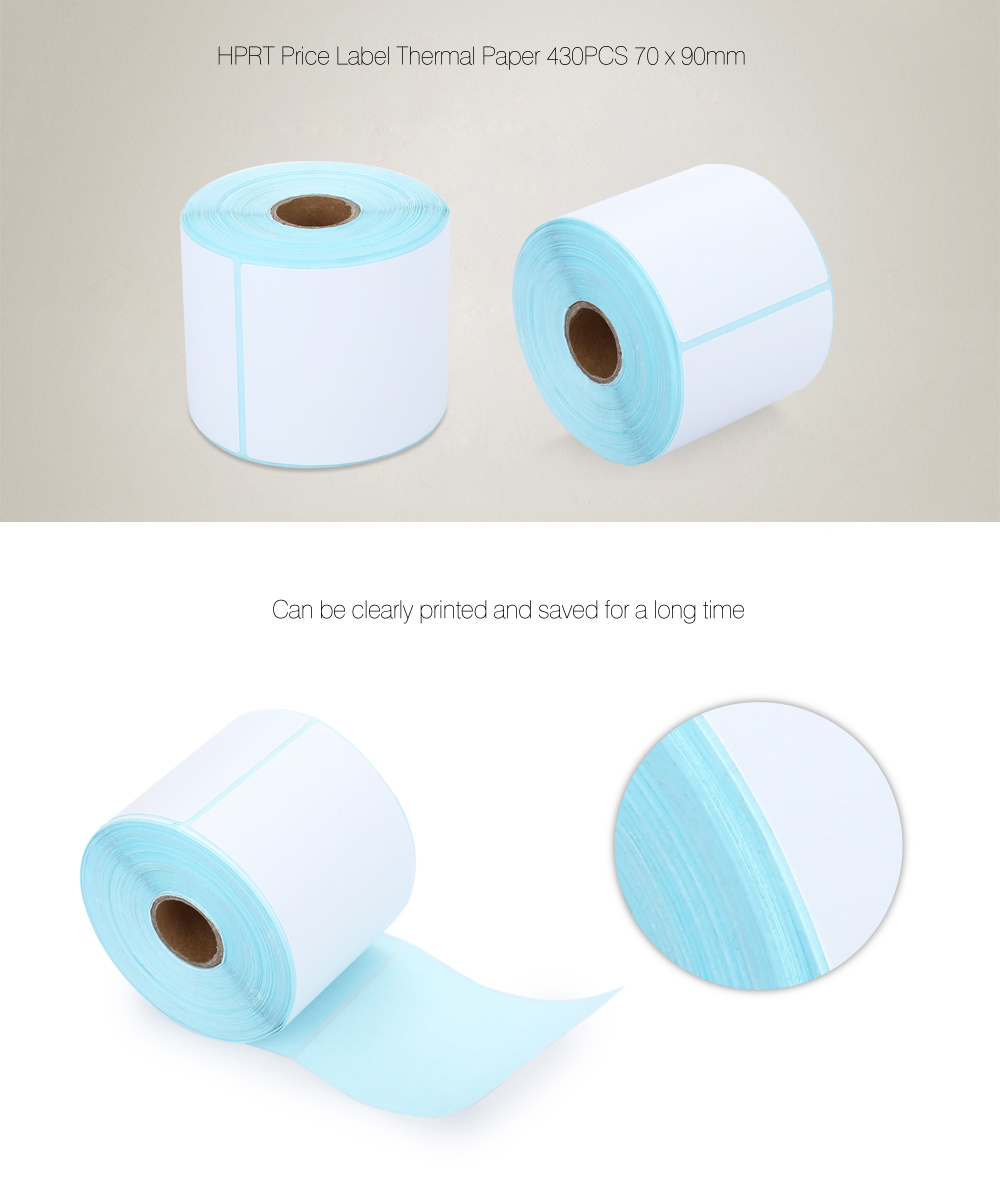 HPRT Thermal Label Paper Sticker Price Roll 430PCS 70 x 90mm