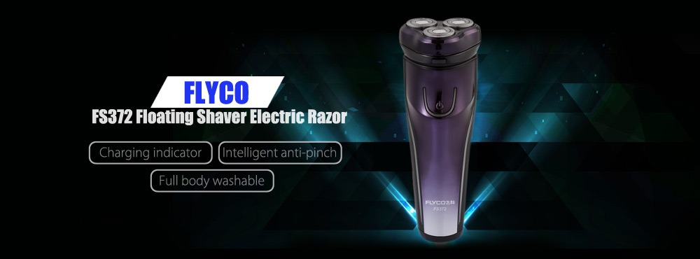 FLYCO FS372 Floating Shaver Rechargeable Washable Electric Razor
