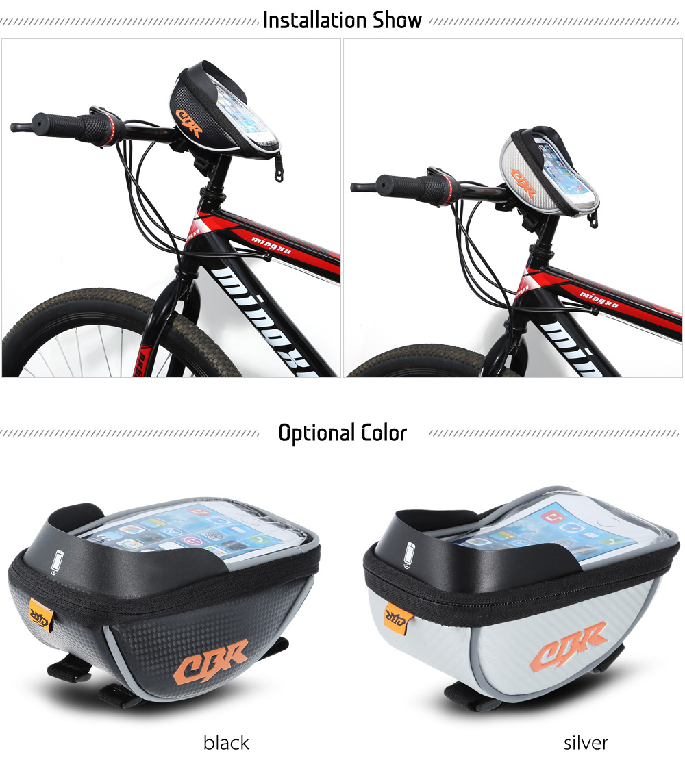CBR 5.5 inch Touchscreen Bicycle Front Tube Bag Cycling Accessories