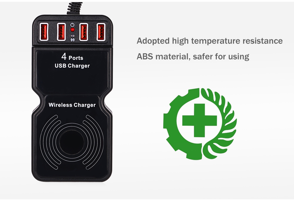 Multifunction Power Adapter Dock Wireless Charger 4 USB Output