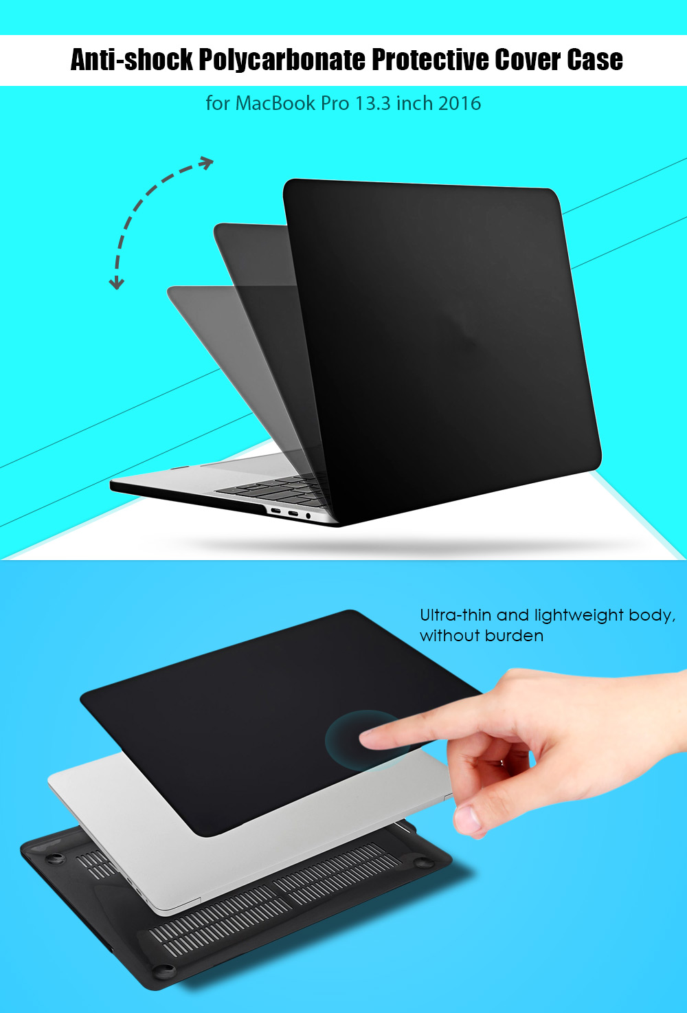 Hat Prince Anti-shock Hard Case Protector for MacBook Pro 13.3 inch 2016