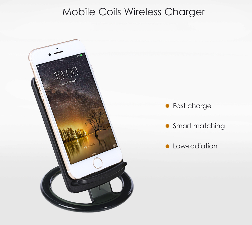 LeeHUR Fast Charge Wireless Charger Removable Coils Pad Phone Stand