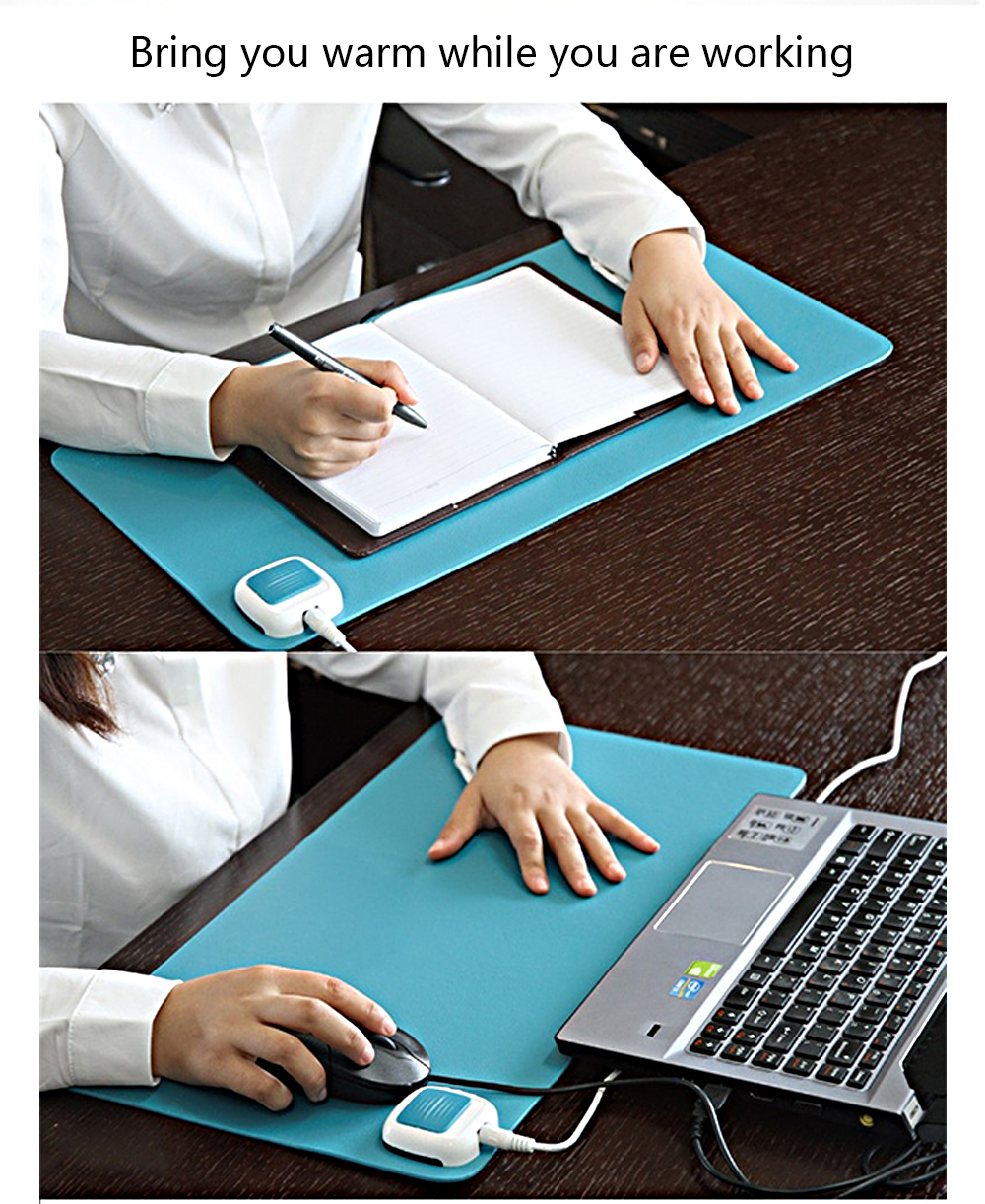 Deli 3690 Electric Heated Pad Mat 540 x 280mm for Home Office