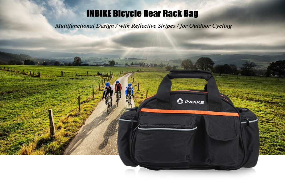 INBIKE Multifunctional Bicycle Rear Rack Bag for Outdoor Cycling