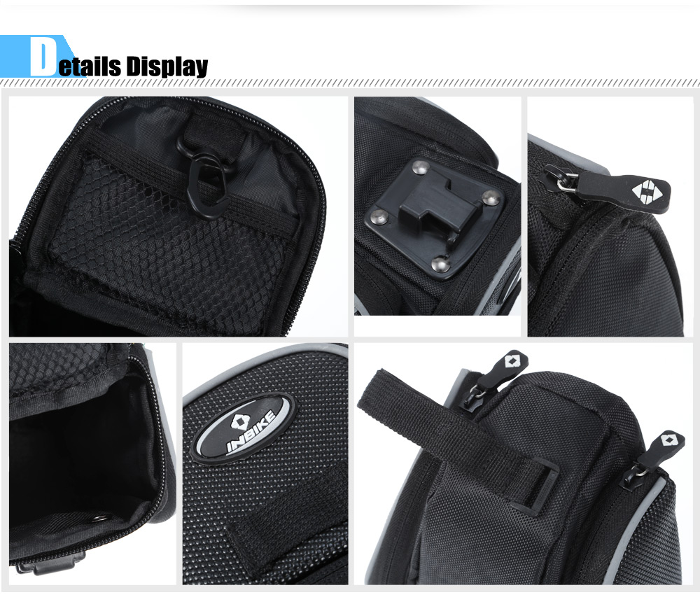 INBIKE Water-resistant Bicycle Saddle Bag for Outdoor Cycling