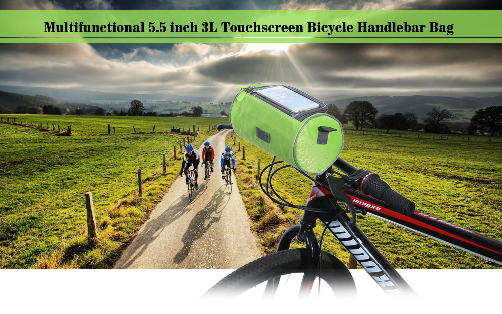 Multifunctional 5.5 inch 3L Touchscreen Bicycle Handlebar Bag Cycling Accessories