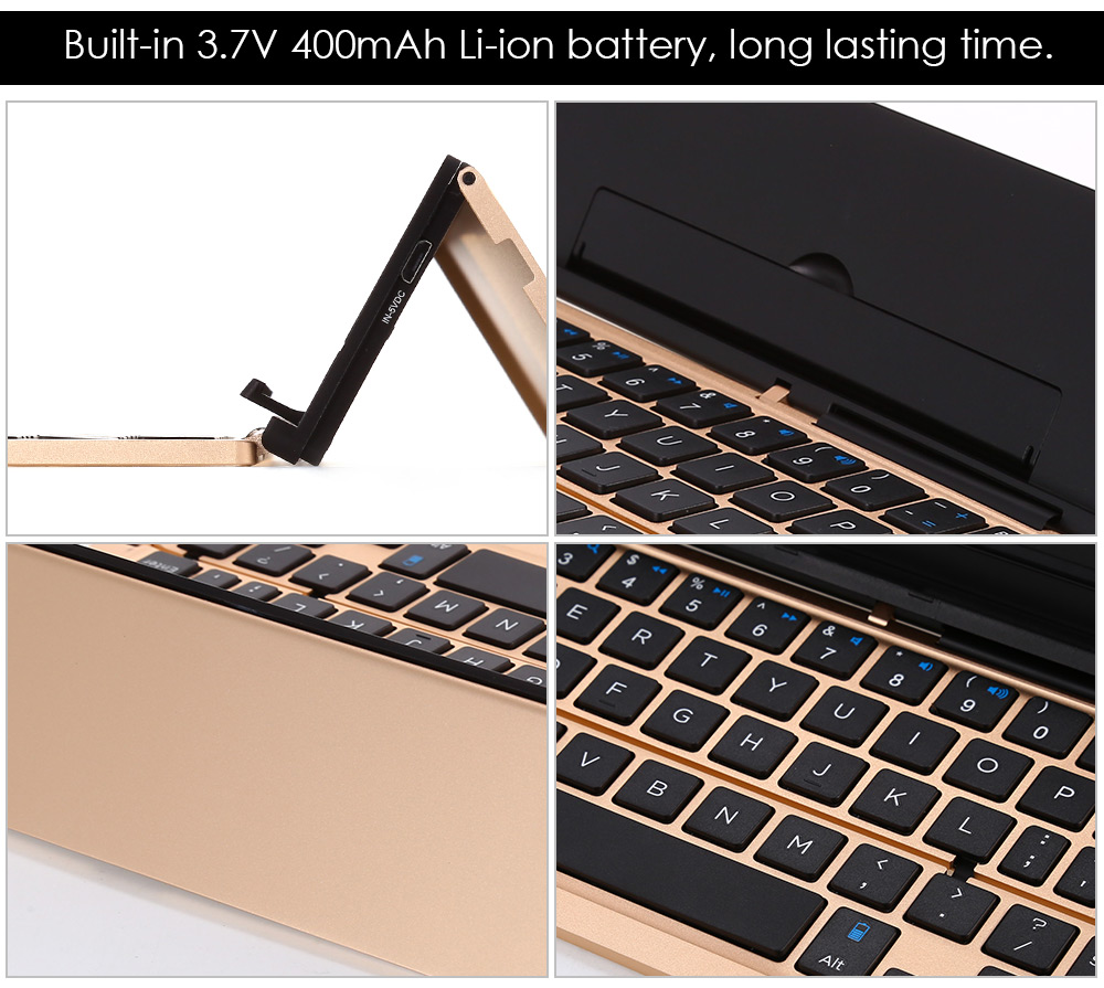 F18 Universal Foldable Bluetooth Keyboard for Tablets Smart Phones