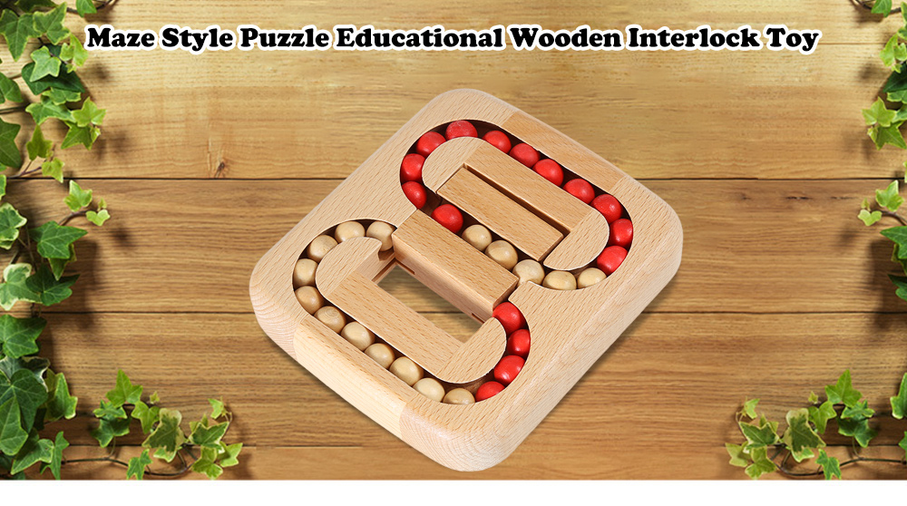 Maze Style Puzzle Educational Wooden Interlock Toy
