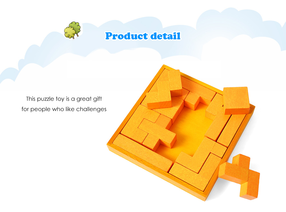 Wooden Puzzle Educational Interlock Toy