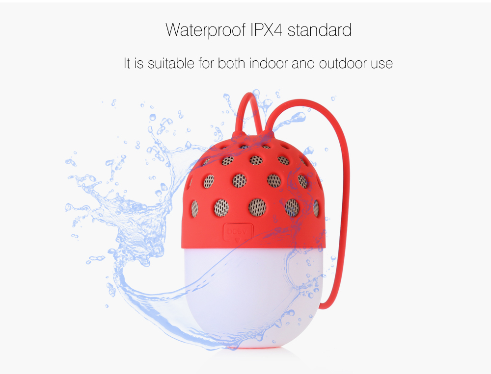 Firefly Bluetooth V2.1 + EDR Speaker Outdoor Waterproof Audio Player with Colorful LED Light