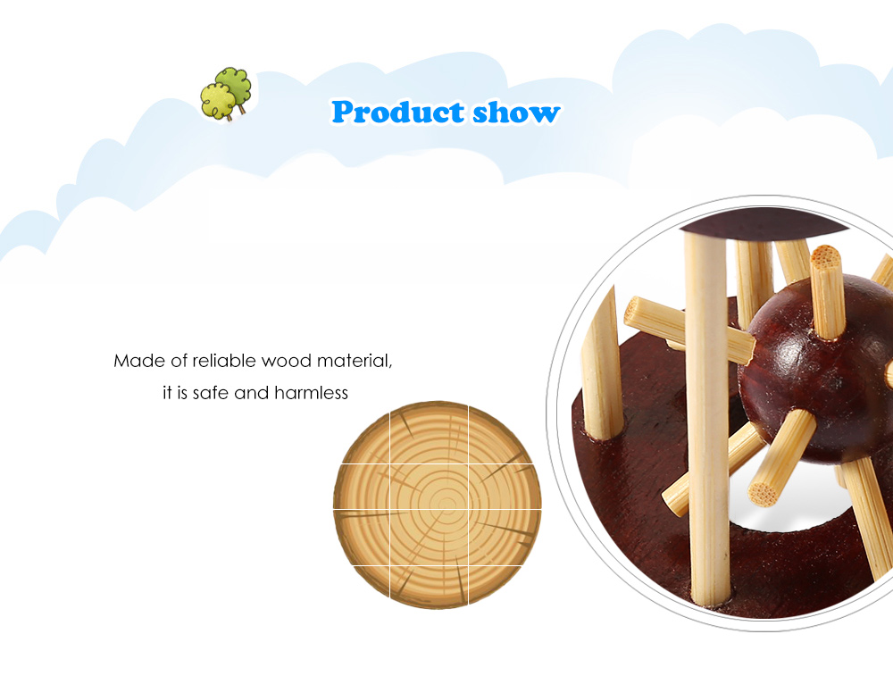Puzzle Educational Wooden Cage Interlock Toy