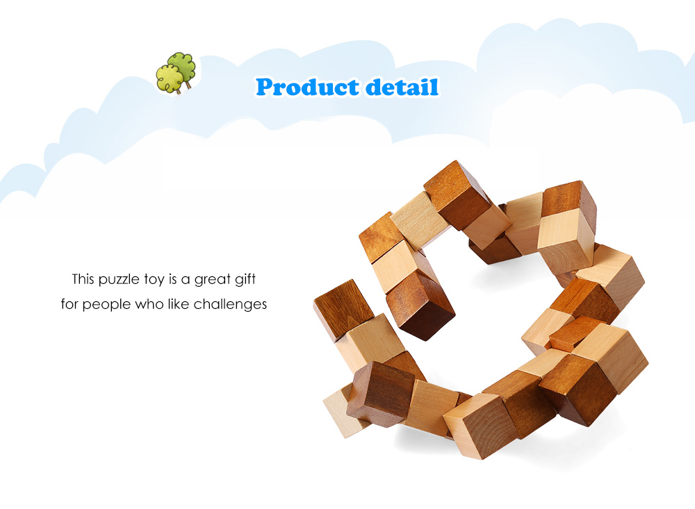 Dragon Style Puzzle Wooden Educational Interlock Toy