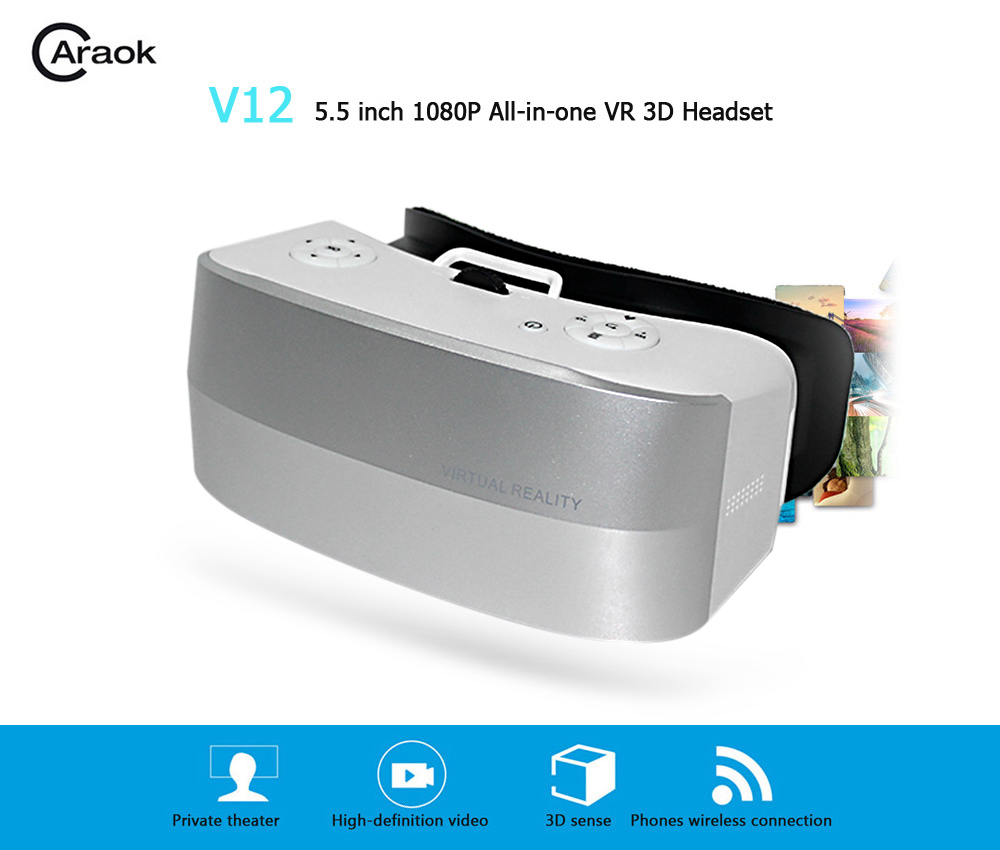 Caraok V12 5.5 inch 1080P All-in-one VR 3D Headset with IPD Adjustment