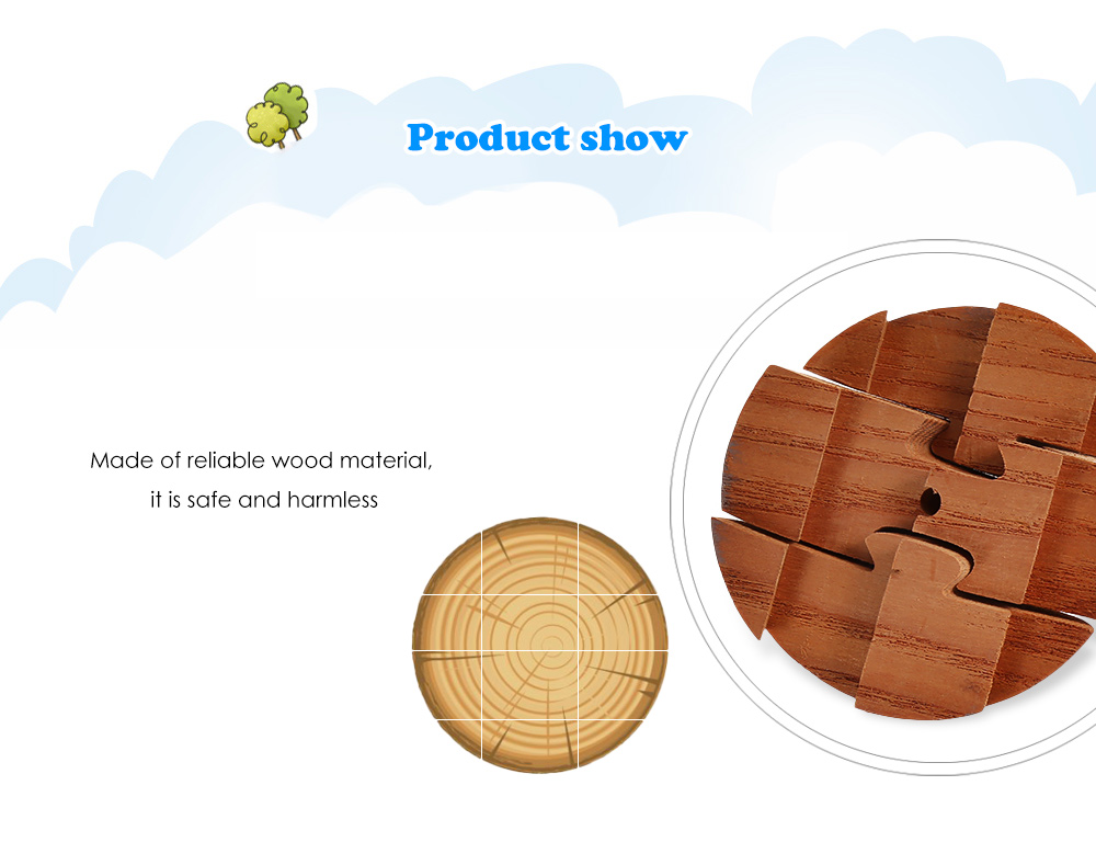 Earth Model Style Puzzle Educational Wooden Interlock Toy
