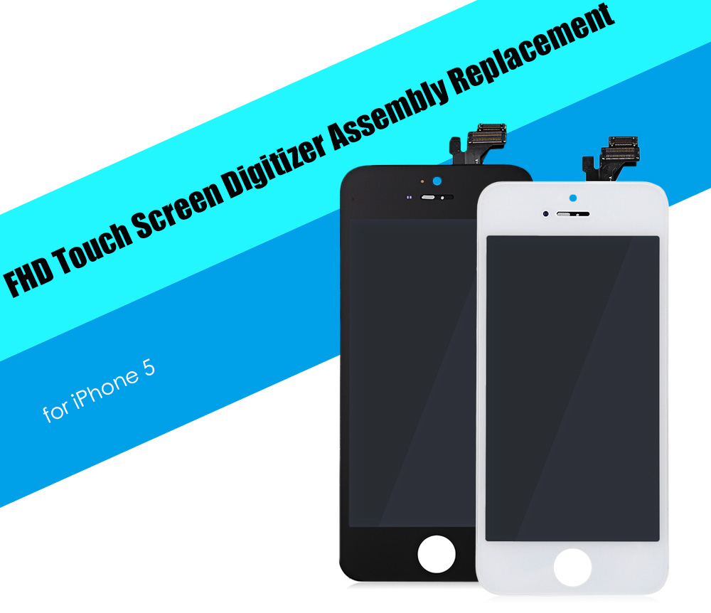 LeeHUR FHD Display Touch Screen Digitizer Assembly Replacement with Tool Kit for iPhone 5