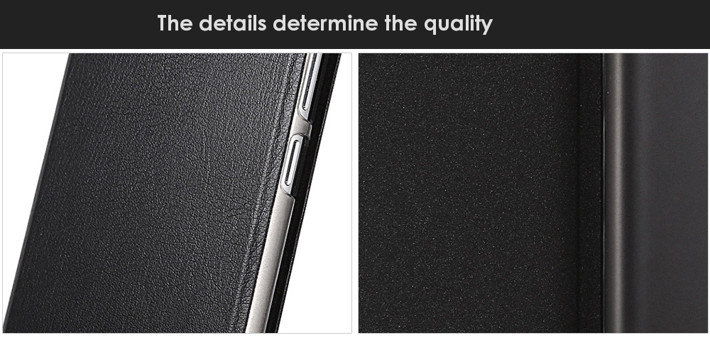 OCUBE PU Leather Full Body Phone Protective Case with Foldable Stand for UMi Diamond