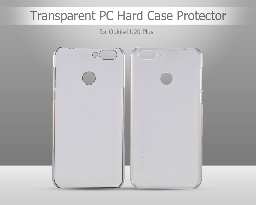 OCUBE Transparent PC Phone Back Case for Oukitel U20 Plus Ultra Thin Mobile Shell Protector