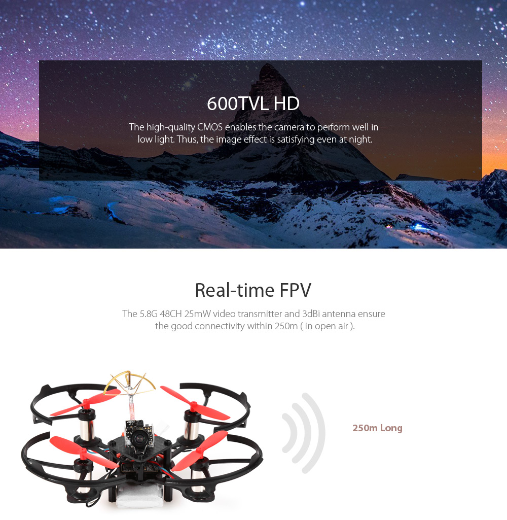 JIFUNRC 85X 85mm Mini FPV Racing Drone BNF 5.8G 600TVL CMOS / F3 FC with Integrated Receiver