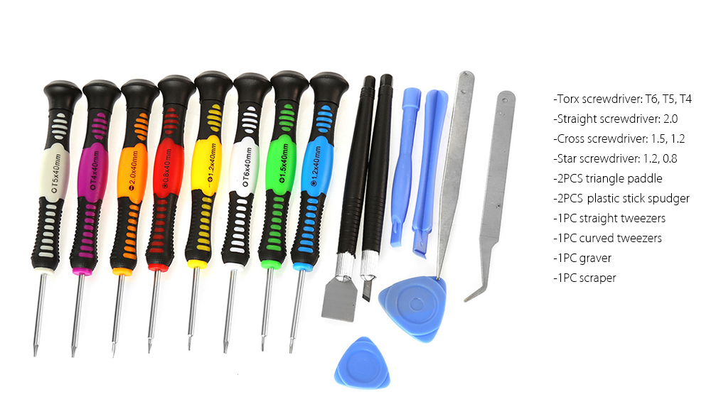 16 in 1 Screwdriver Repair Opening Tools Kit for Electronic Product