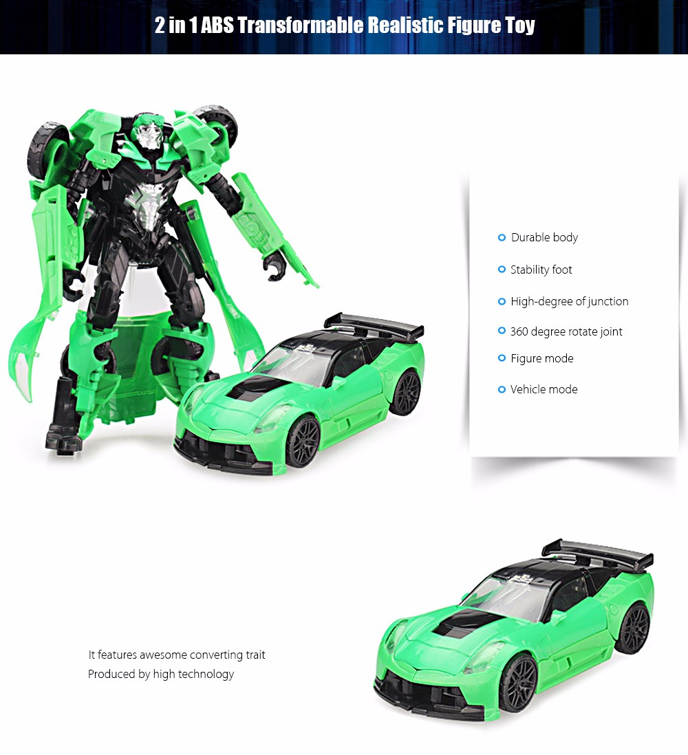 3D Transform Robot Vehicle Puzzle ABS Toy Christmas Present