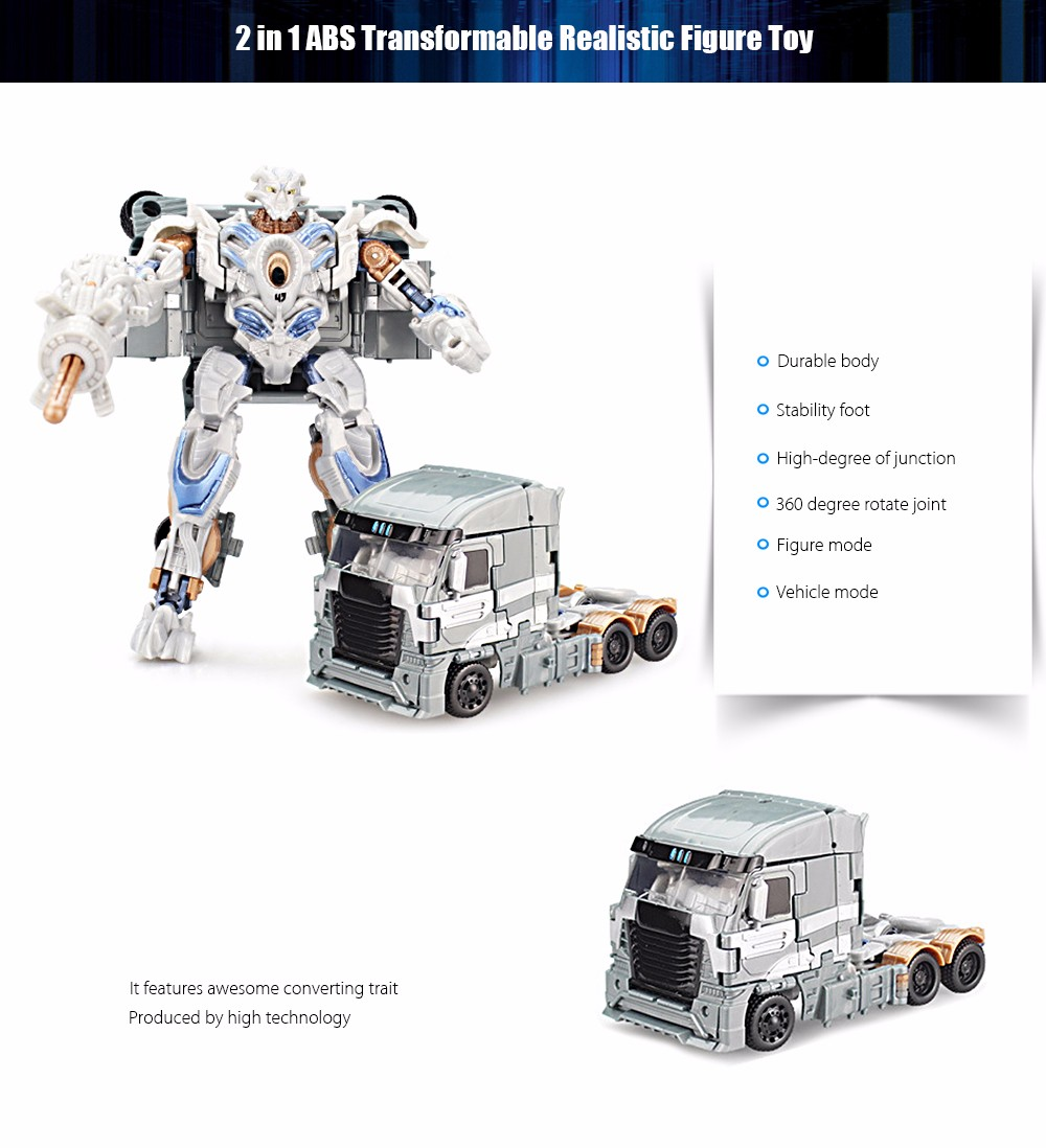 Transform Robot Vehicle Puzzle ABS Toy Christmas Present
