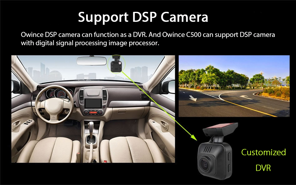 Ownice C500 OL - 7002F Android 6.0 Bluetooth Car Navigation with DVR