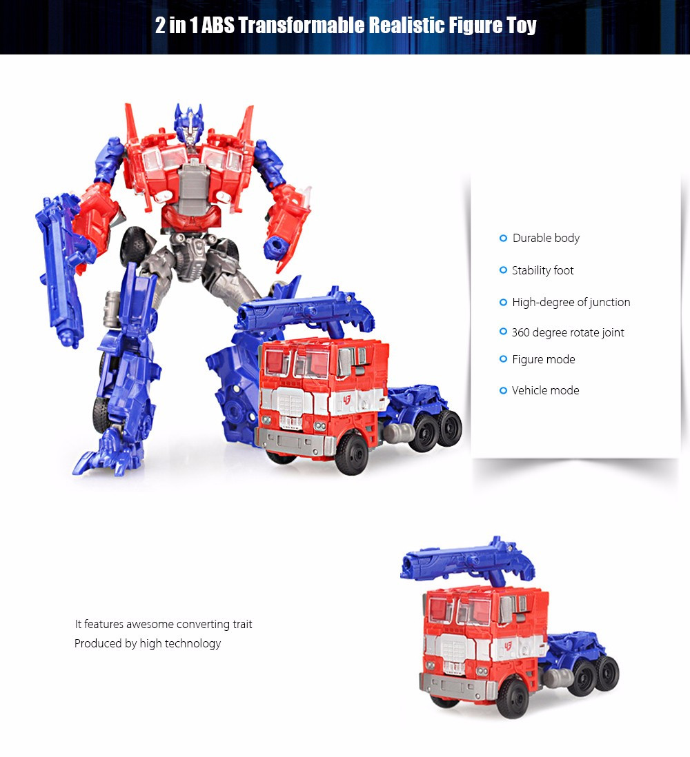 3D Robot Transform Vehicle Puzzle ABS Toy Christmas Present