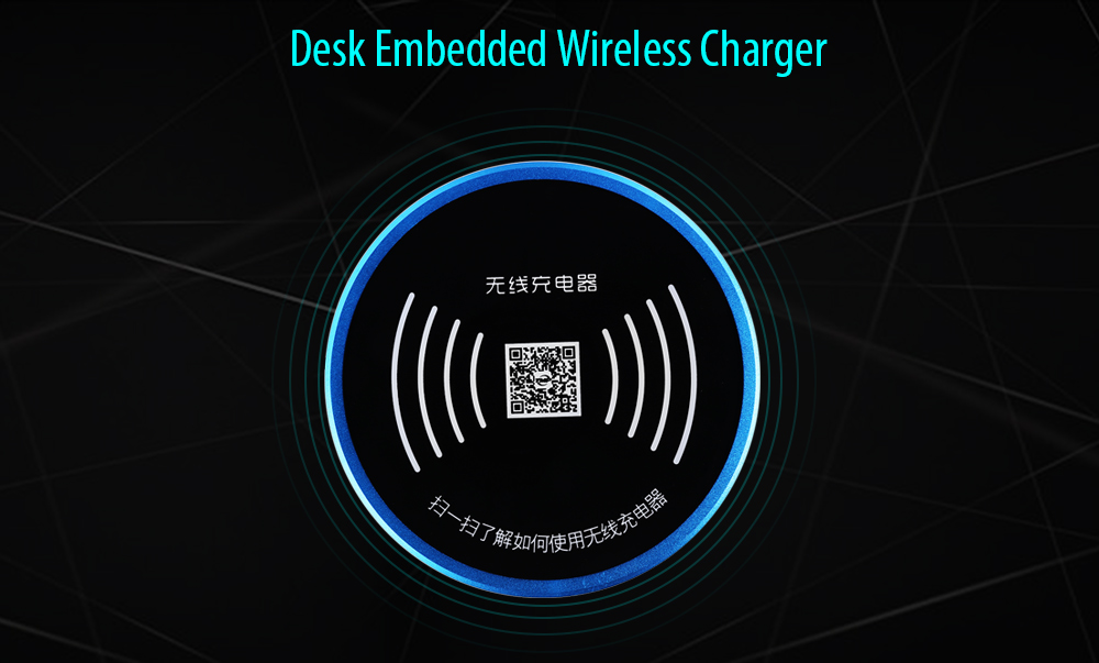 YMP T1 Desk Embedded Wireless Charger Pad Launcher Transmitter