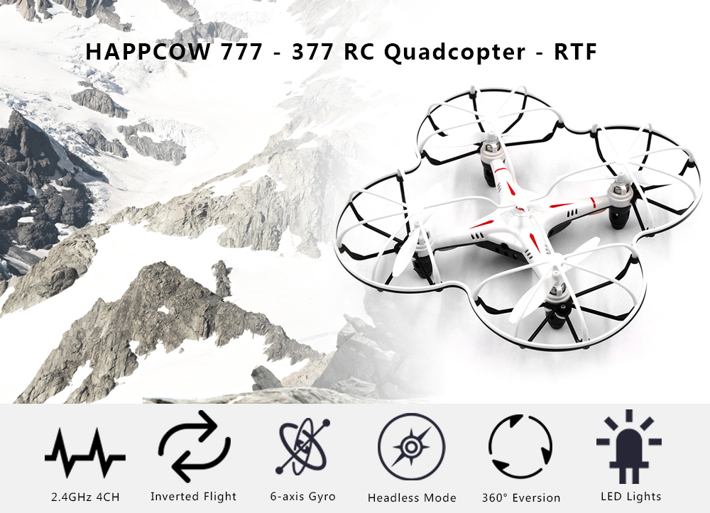 HAPPYCOW 777 - 377 RC Drone RTF Protective Frame / Headless Mode / Inverted Flight