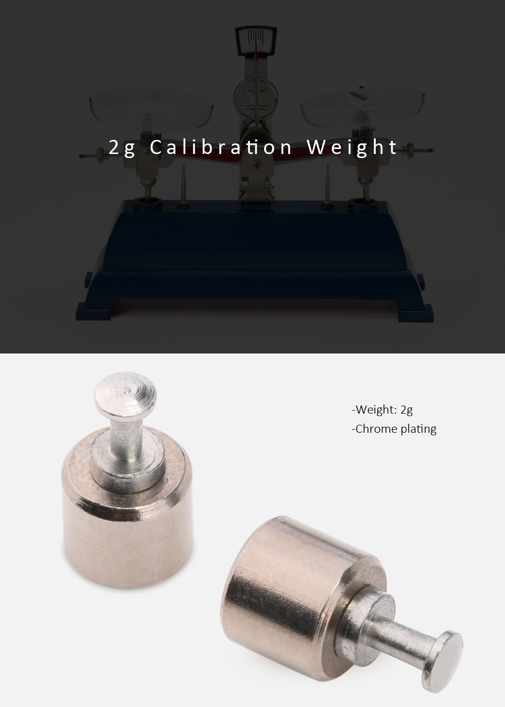 2g Calibration Weight for Digital Scale Balance