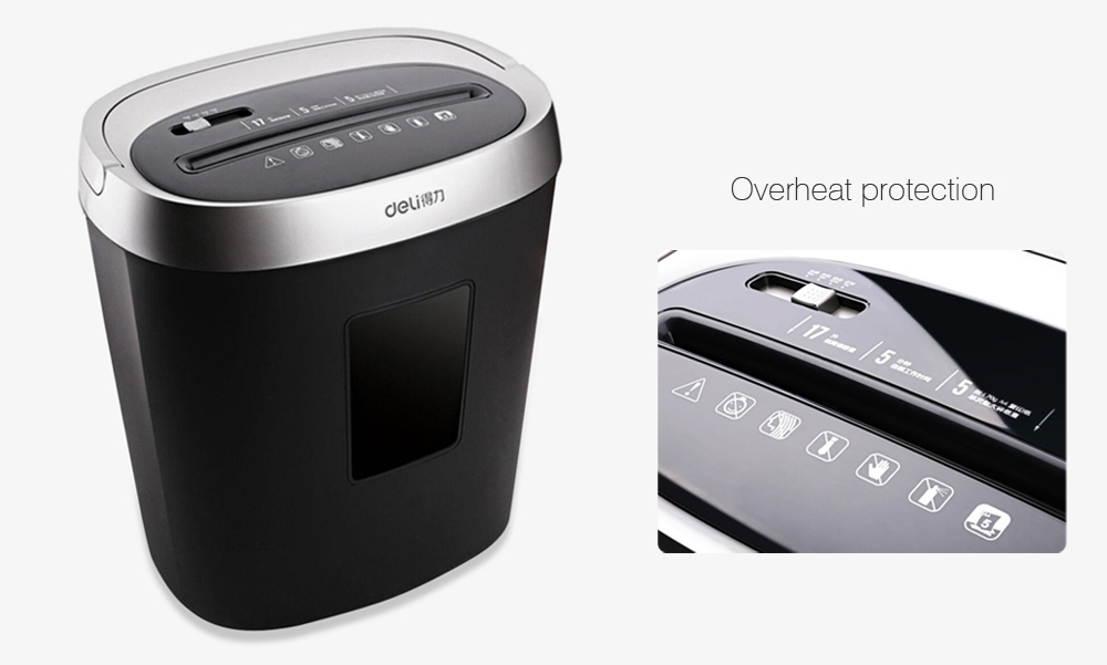 Deli 9929 Mini Battery Powered Office Paper Shredder