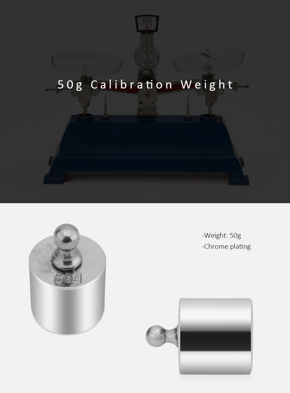 50g Calibration Weight for Digital Scale Balance
