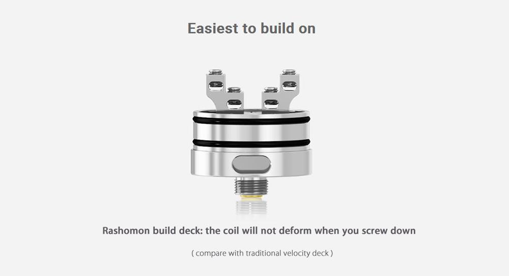Original Hopnvape Hop N Vape Rashomon RDA with Dual Posts / Bottom Airflow for E Cigarette