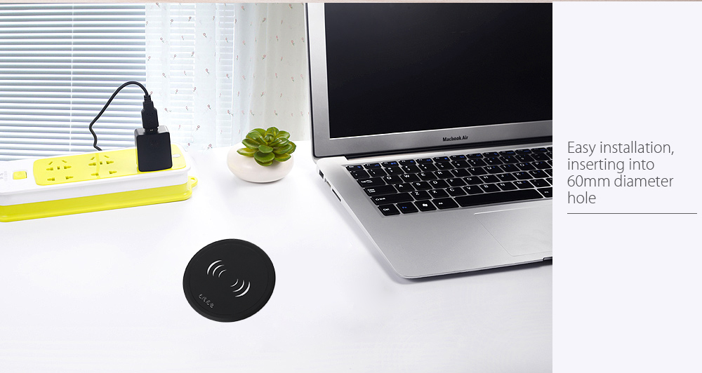 YMP T2 Desk Embedded Wireless Charger Pad Launcher Transmitter