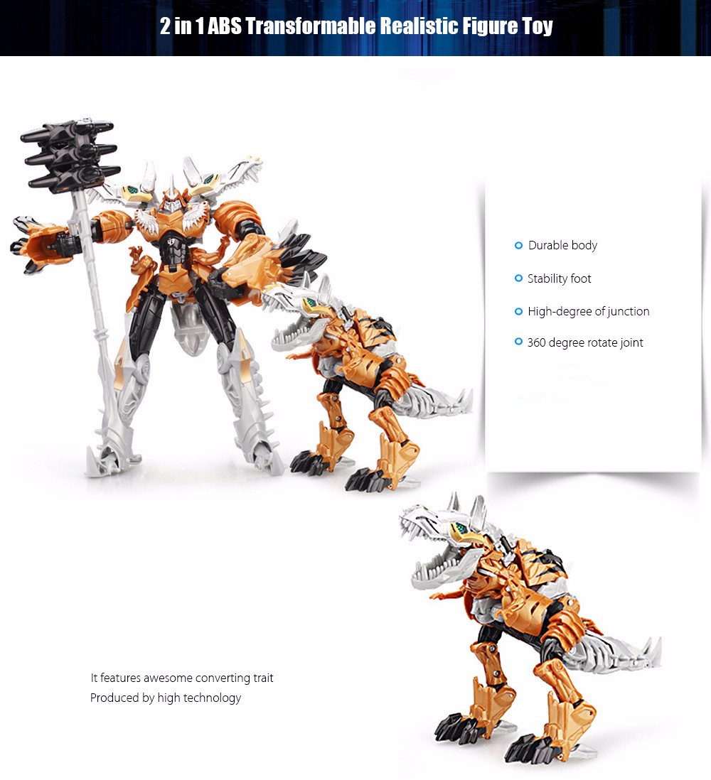 Animation Transform Robot Animal Puzzle ABS Toy New Year Present